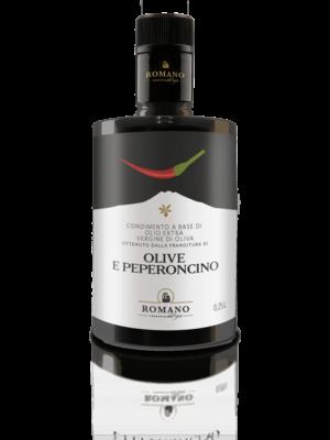 Eine Flasche Condimento Olio e Peperoncino