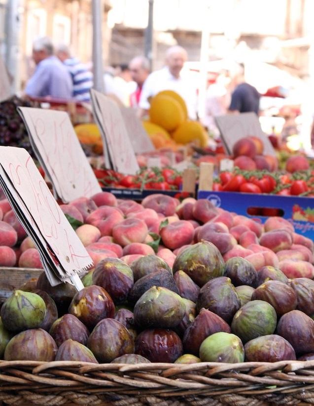 Frische Feigen auf dem Markt