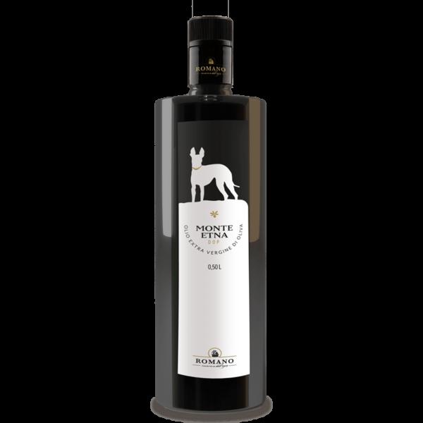 Eine Flasche Monte Etna Olivenöl