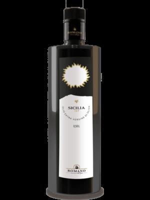 Einen Flasche Sicilia IGP Olivenöl