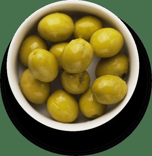 Oliven in einer Schale