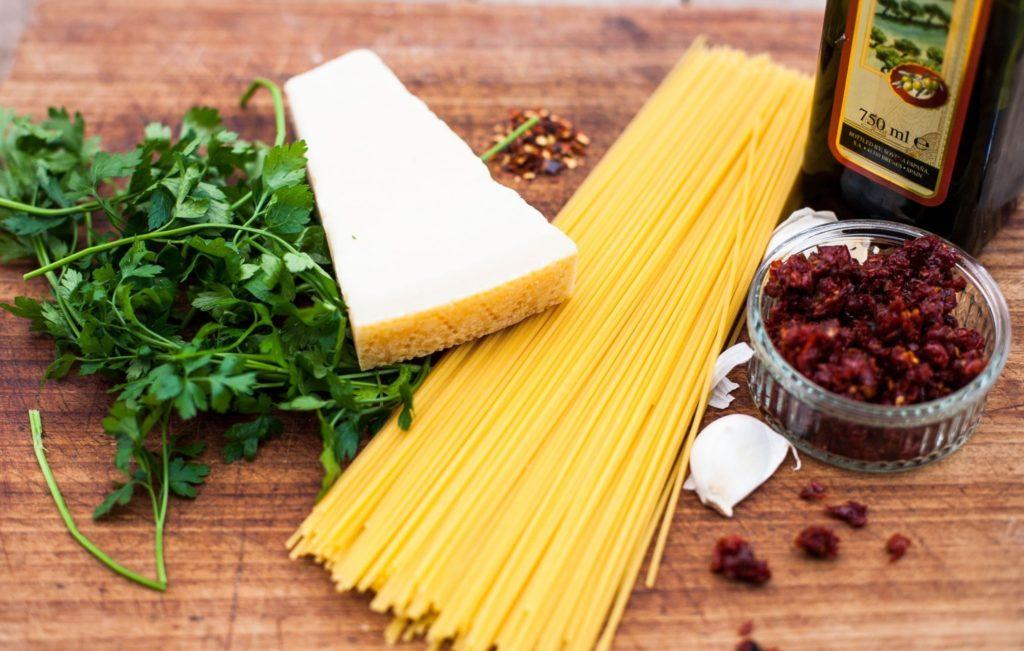 Spaghetti alla Siciliana-Zutaten.