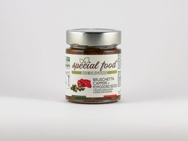 Bruschetta Kapern und getrocknete Tomaten